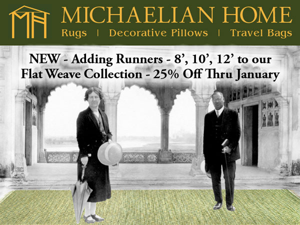 NEW - Adding Runner 8', 10', 12' to our Flat Weave Collection - 25% Off Thru January!