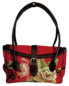 Diagonal Flowers Handbag