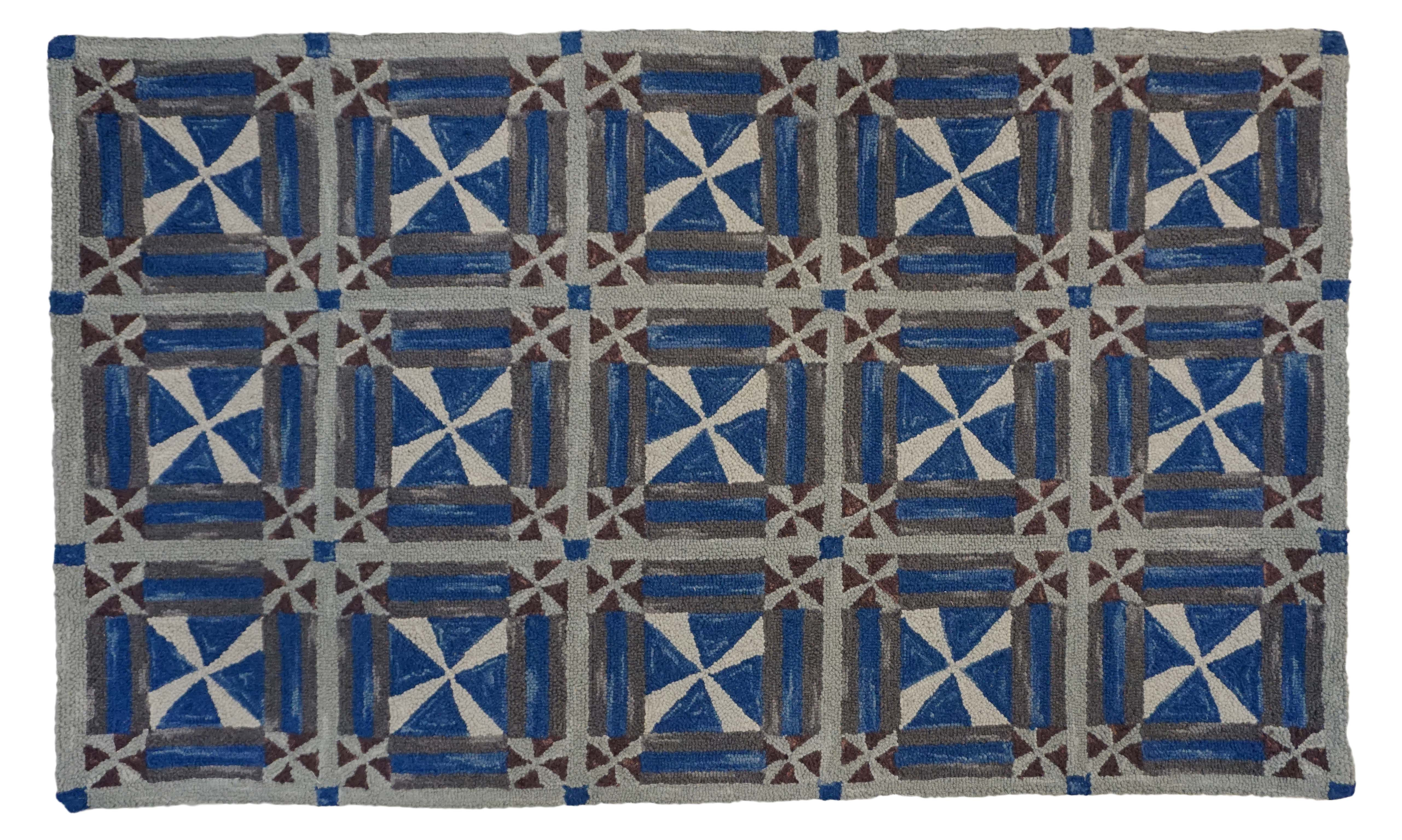 H 715 Andy Hooked Rug Wool