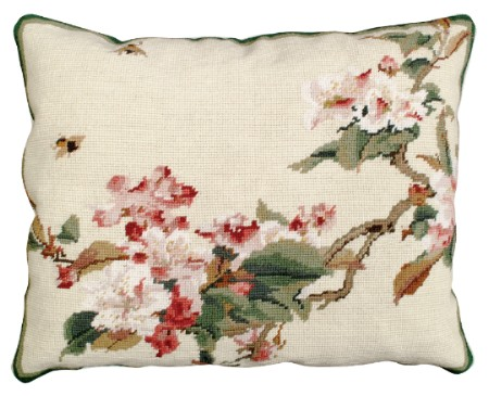 Cherry Blossoms NCU329ABC 16X20 Needlepoint Pillows