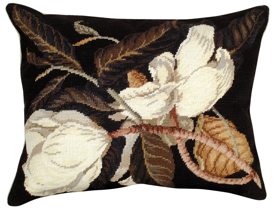 NCU411 Magnolia 16 x 20 Needlepoint Pillow