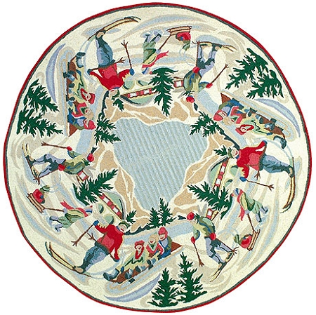 Round Christmas Rugs Roselawnlutheran