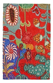 Bloomer Cactus Hooked Rug