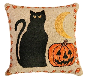 NCU943  Black Cat & Pumpkin