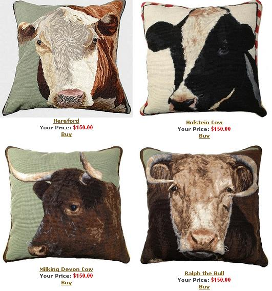 Cow pillows