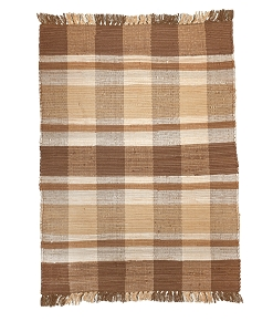 Plaid - Taupe (r) Rag Rug