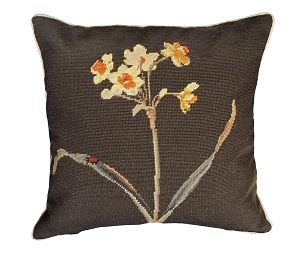 DAFFODIL  NEEDLEPOINT PILLOW 18