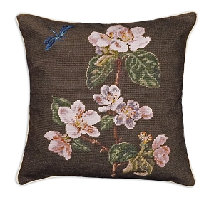 APPLE BLOSSOM  NEEDLEPOINT PILLOW 18