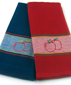 Apple Embroidery Kitchen Towels