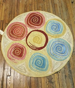 HC-7322 Camp Whirly 2 Hooked Rug Cotton