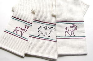 Deer Moose and Bear Kitchen Towels