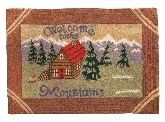 H-169 Welcome to the Mountains 2'x3' Rug