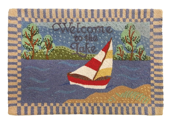 H-171 Welcome to the Lake 2'x3' Rug