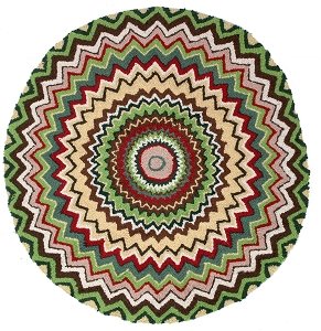 H-625 Topper Round Hooked Rug Wool