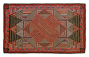 H-702 Sam Hand Hooked Rug Wool