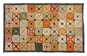 HC-705 Camp Greystone  Hooked Rug Cotton