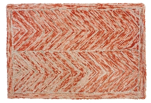 HN-105 Patti Hooked Rug Felted Wool