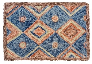 HN-107 North Hooked Rug Felted Wool