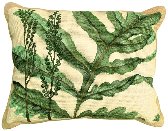 Floral Needlepoint PillowsCushions by Michaelian Home Decor