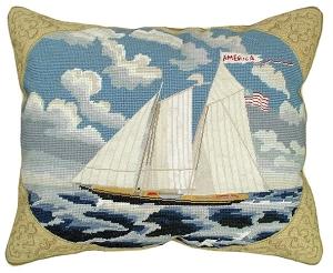 Needlepoint Nautical Themed PillowsMichaelian Home Decor
