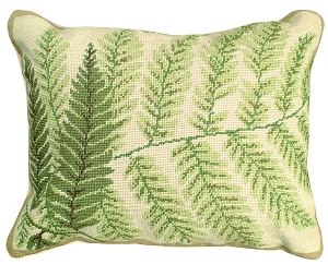 NCU-82 Fern - Helene Verin Needlepoint Pillow 16