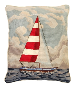 NCU-825 RED & WHITE SAILBOAT