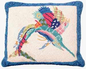 NCU-902 Patchwork Sailfish Hooked Pillow 16