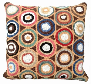 NCU905 BROWN PENNIES PILLOW