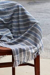 NLT005 GREY & BLUE THROW