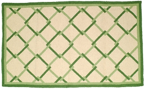 NR-607 Leeward Green Grosse Point Rug Wool