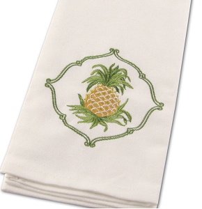 Embroidered Pineapple Kitchen Towels 2-PC Set