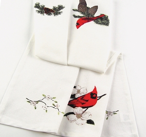 Red Cardinals Kitchen Towel