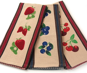 Strawberry Blueberry Bing Cherry Kitchen Towels