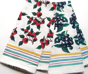 Strawberry Patch and Blueberry Patch Kitchen Towels