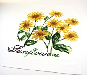 Sunflowers Kitchen Towel