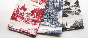Toile Kitchen Towels 2-PC Set