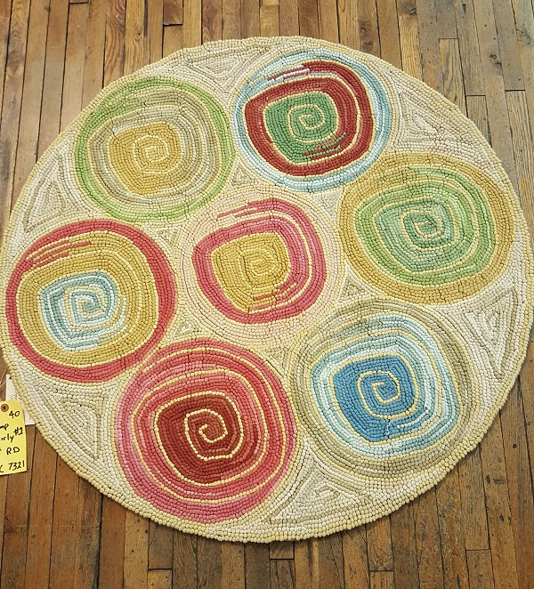 HC-7321 Camp Whirly 1 Hooked Rug Cotton
