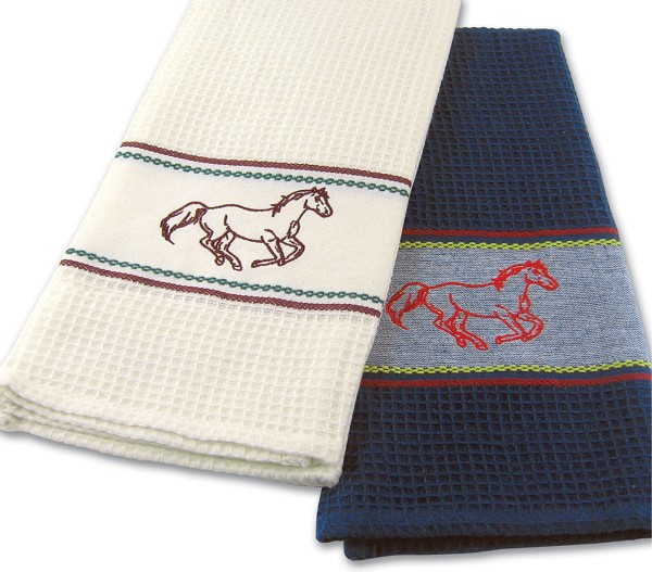 Horse Embroidery Kitchen Towels