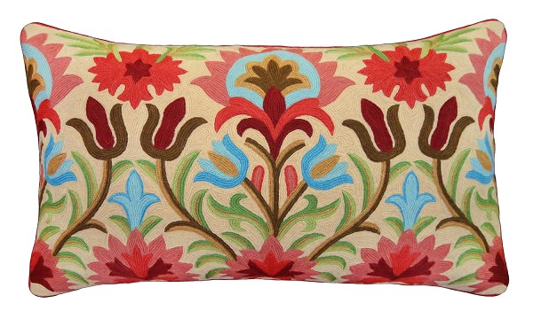 "NCE-1 Brenda 16"" x 28"" Embroidered Pillow"
