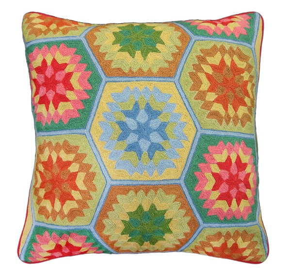 "NCE-2 Sherry 20"" x 20"" Embroidered Pillow"