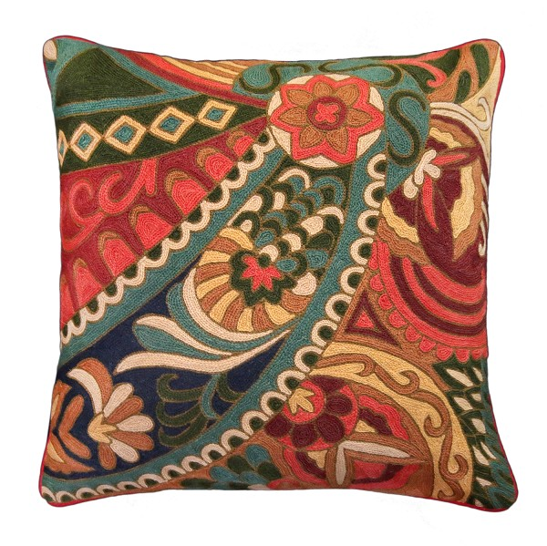"NCE-3 Margaret 20"" x 20"" Embroidered Pillow"