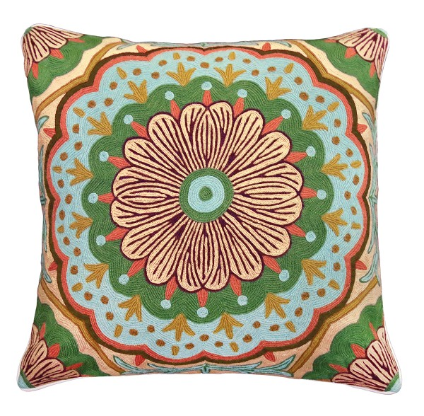 "NCE-5 Jewel 20"" x 20"" Embroidered Pillow"