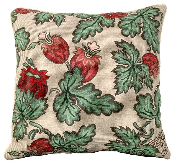 "NCU-339 Ashu 18""x18"" Needlepoint Pillow"