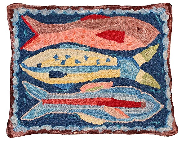 NCU-795 (r) Swimming Fish Hooked Pillow