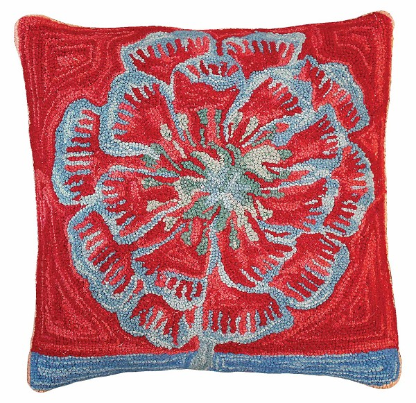 "NCU-911 Bloomers 1 20""x20"" Hooked Pillow"