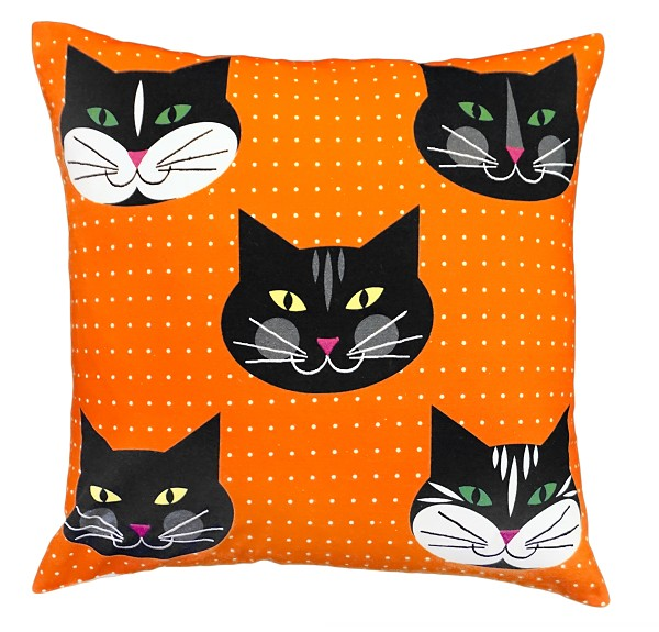 "NPE-032 Five Kitten 20""x20"" Printed Pillow"