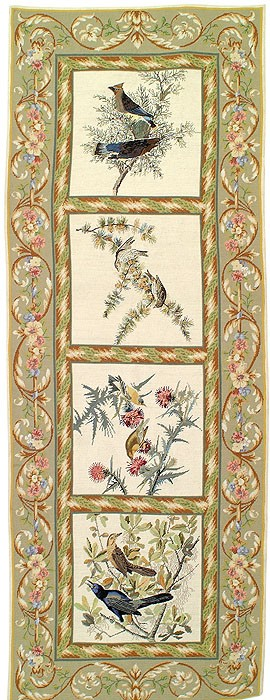 Needlepoint Bird Rug