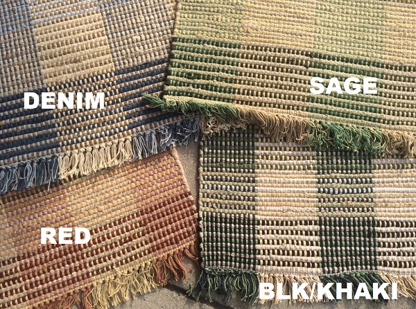 Booker Plaid Rag Rugs