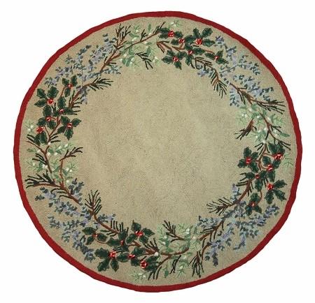 evergreen rug - Christmas Rugs Large