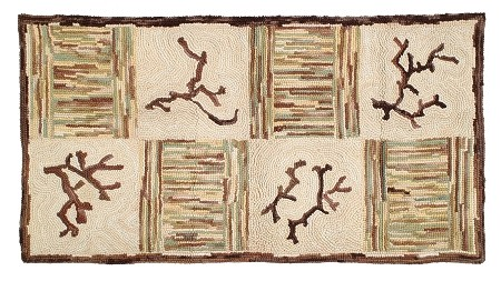 HC-709 Camp Timber Creek Hooked Rug Cotton